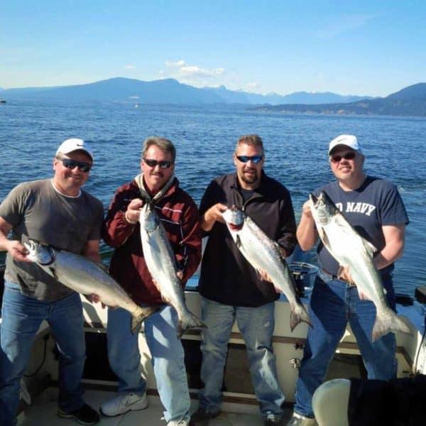 Vancouver salmon vancouver fishing trips for Salmon fishing charters